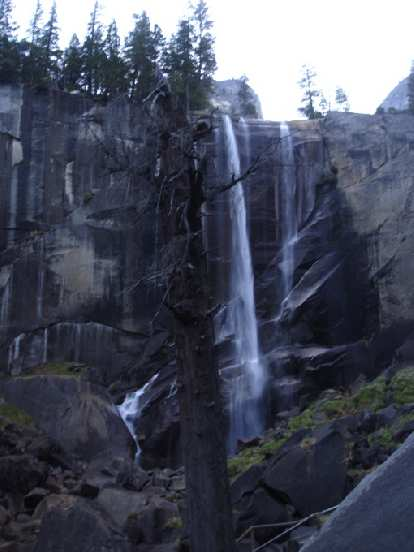 I think this is Nevada Falls.  Or is it Vernal Falls?  It is all a blur now.