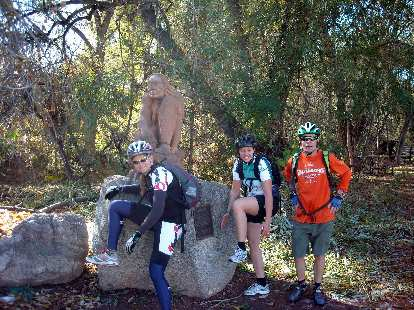 With another statue off the Canyon recreation trail.