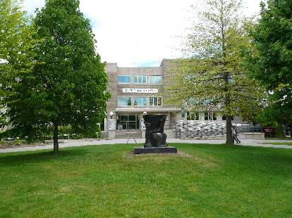 The McMaster University campus was very nice -- very green and tranquil.