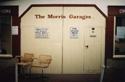 The Morris Garages - what 'MG' stands for.