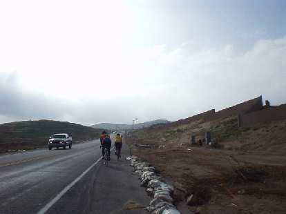 [Mile 44, 8:20 a.m.] Finally, some climbing (and people): on the first climb of any significance in the ride, I finally saw more than just one or two cyclists.
