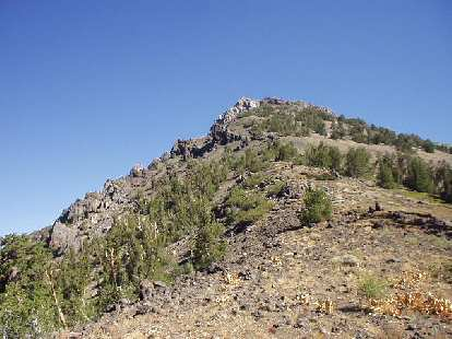 11:10 a.m.: A false summit to Peak 10824, with an abundance of scree.  If it looks steep, it's because... it is!