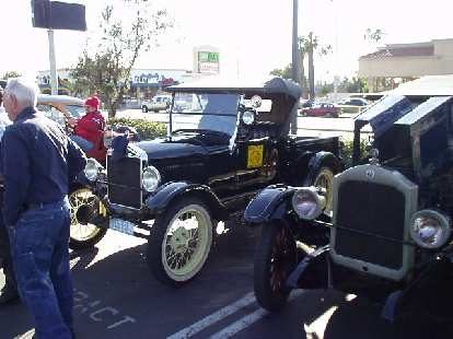 In this tour, Robert drove his 1928 Model T pickup (left), while Sharon and I rode in the back of the Star sedan (right) driven by Robert's friend Joe.