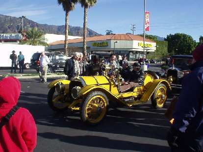 The yellow Mercer again, driven by Jay Leno himself!