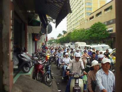 Lots of motorbikers!