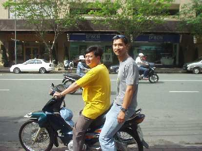 Felix Wong on his first motorbike ride.  It would not be his last.