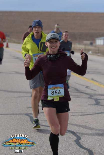 Kristina looking good in her first half marathon.