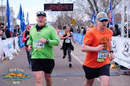 Matt ran his second half-marathon ever, cutting 15 minutes off last year's time.