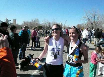 Speedy women: Celeste & Lindsey.