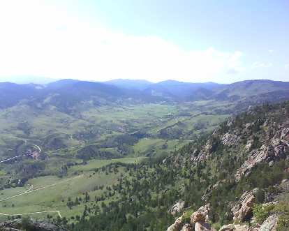 The view from the top to the west.