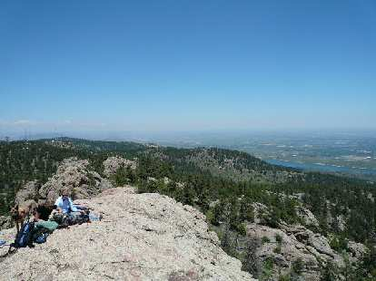View of the Horsetooth Reservoir and Fort Collins from the top of the rock.