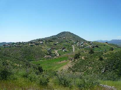 View of Overland Hill to the south of Horsetooth Park.