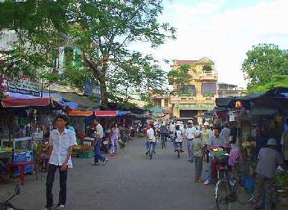 Street market in Hue.