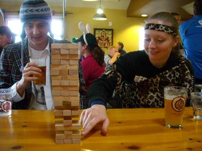 Playing Jengo in Odell's.