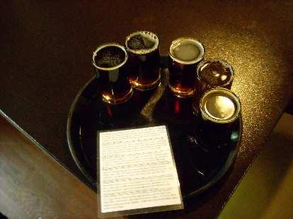 Taster tray in Equinox.
