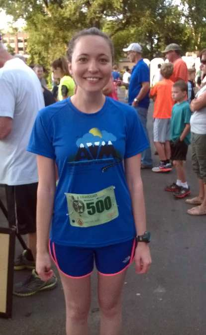 Maureen at the start of the Human Race 5k.