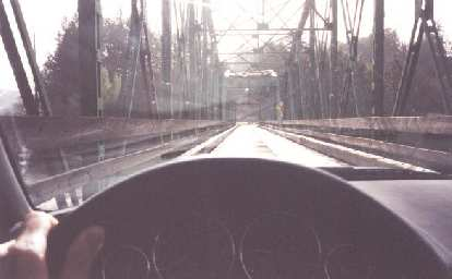 Another view from my Z3, this time over a single-lane wooden bridge.