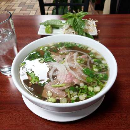 A delicious bowl of pho from Pho U & Mi.