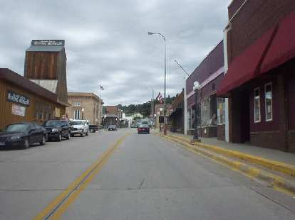 Highway 85 through Lead, South Dakota, just a few miles away from Deadwood.