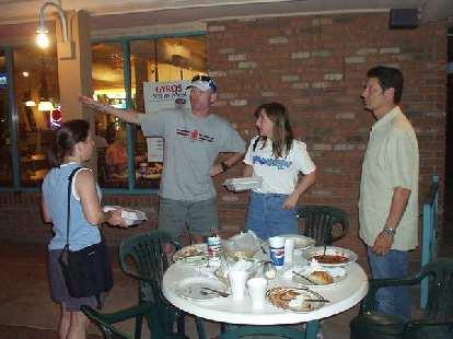 Sharon, Bob, his wife Christine, and his friend Lenny at Lorenzo's.