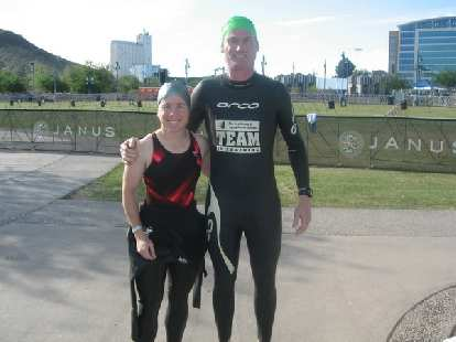 Sharon and Bob ready for an open water try.