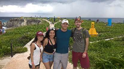 Yesenia Morales, Carolina, Julian Ganton, Alberto François, Mayan Ruins, Isla Mujeres