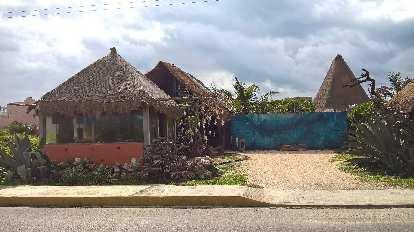 house, straw roof, Isla Mujeres