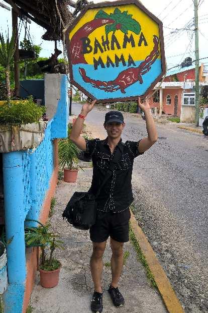 Bahama Mama sign, Felix Wong, Isla Mujeres