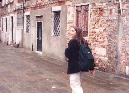 Carolyn in Venice.