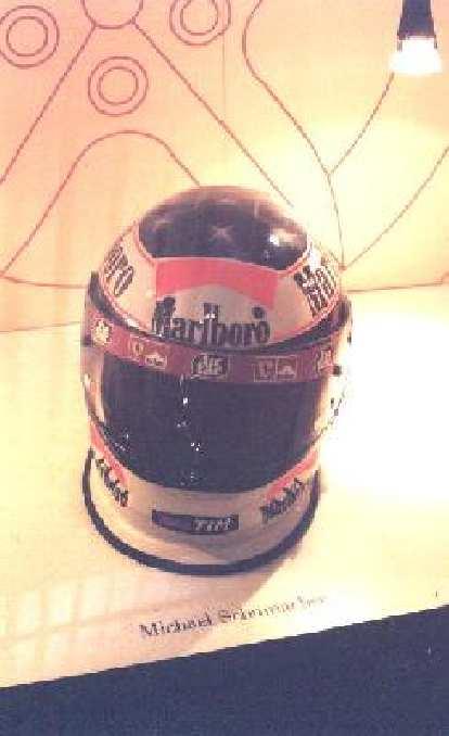 Michael Schumacher's helmet.
