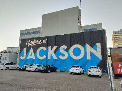 """""""Welcome to Jackson"""" mural in downtown Jackson."""