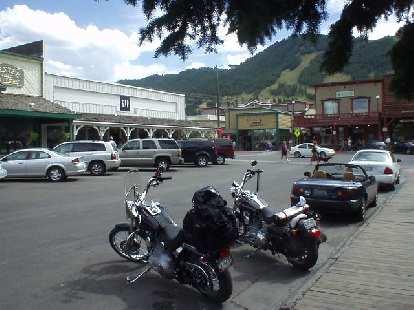 Harleys, a Miata, and... the Gap.