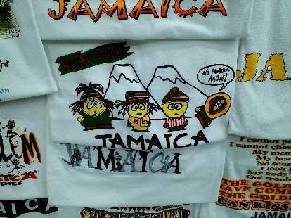 A South Park-themed Jamaican T-shirt.