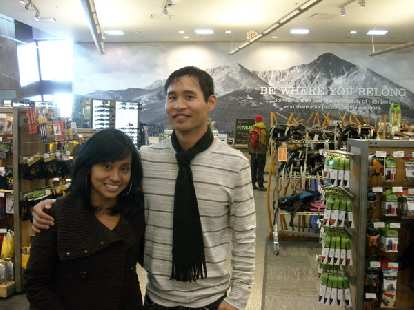 Janeth and I in REI.