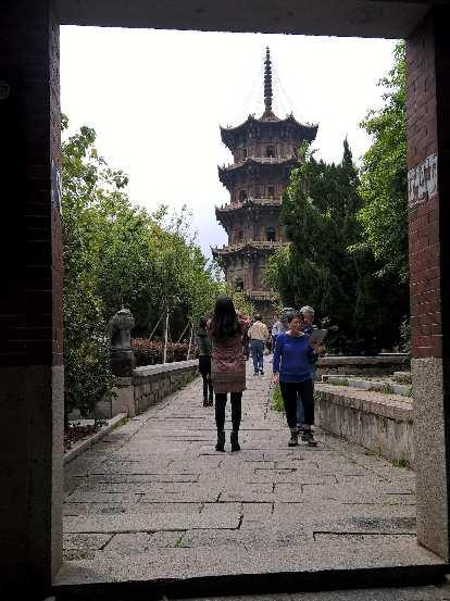 The Reshou Pagoda at the Kaiyuan Temple in Quanzhou, China.