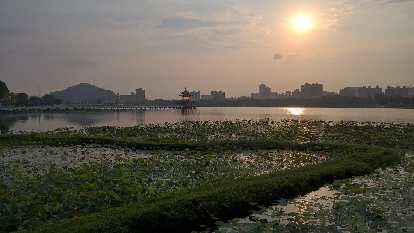 Lotus Pond as seen during my morning run in Kaohsiung City, Taiwan.