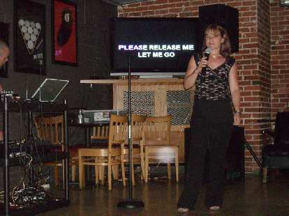 Tanya singing a song that was not exactly what she had requested!