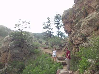 Kat and Guy on the Soderberg trail inthe beautiful Horsetooth Mountain Park.