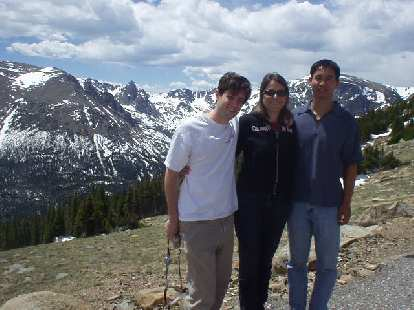 The three of us at the Rocky Mountain National Park.  Hooray for the mountains!
