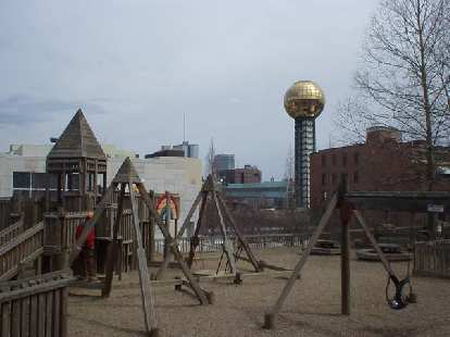 Nearby is Fort Kid, a playground for kids, and the Knoxville Museum of Art.
