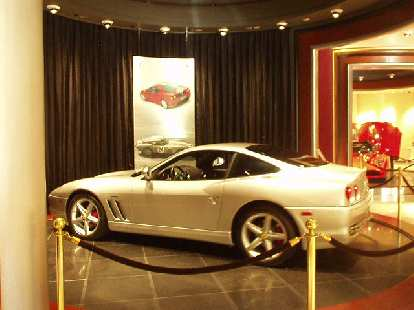 This is a 550 Maranello.  Reminds me of when I saw one at the Ferrari Museum in Maranello, Italy six years ago.  Has it been that long?