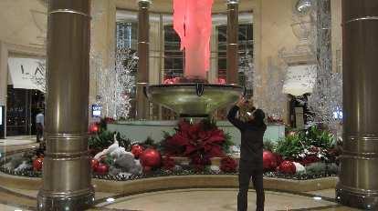 A holiday display inside Palazzo.