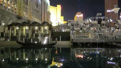 Gondolas and Canals outside the Venetian.