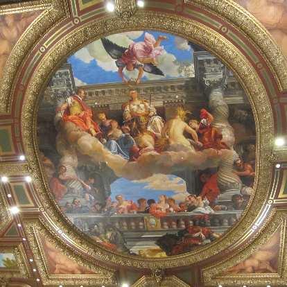 The Michelangelo-inspired ceilings of the Venetian.