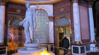 A Michelangelo-inspired statue at Caesar's Palace.