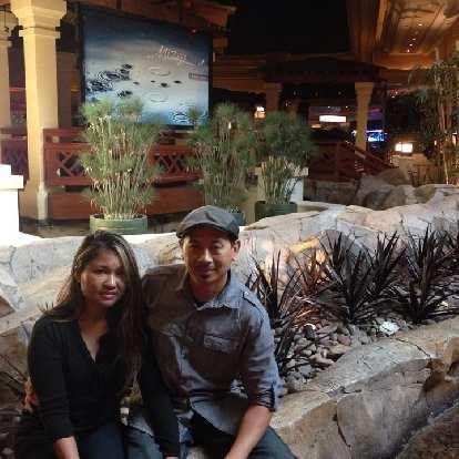 Sara and Bandy at Mizuya inside Mandalay Bay, where we had a sushi lunch.