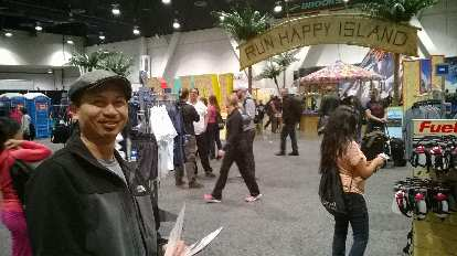 Bandy at the pre-race Health & Fitness Expo at the Las Vegas Convention Center.