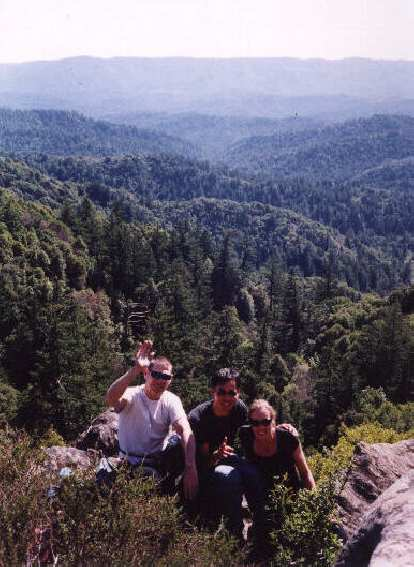"""Here's Bruce Morris (author of the """"Rock Climber's Guide to Skyline Blvd."""") with Felix Wong and Christine."""