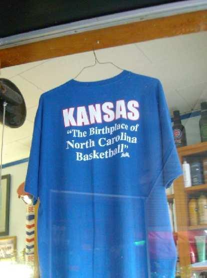 "Kansas: ""The birthplace of North Carolina basketball."""