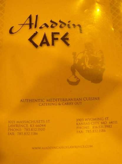 The Aladdin Cafe in Lawrence offered really good Mediterranean food for cheap. Highly recommended.